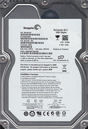 9QJ KRATSG PN 9CA158-304 Seagate 1TB SATA 3.5 Hard Dri FW SN06 ST31000340NS