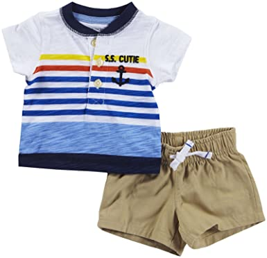 3ce1ba25a Amazon.com: Carter's Baby Boys' 2 Pc Playwear Sets 229g401: Clothing