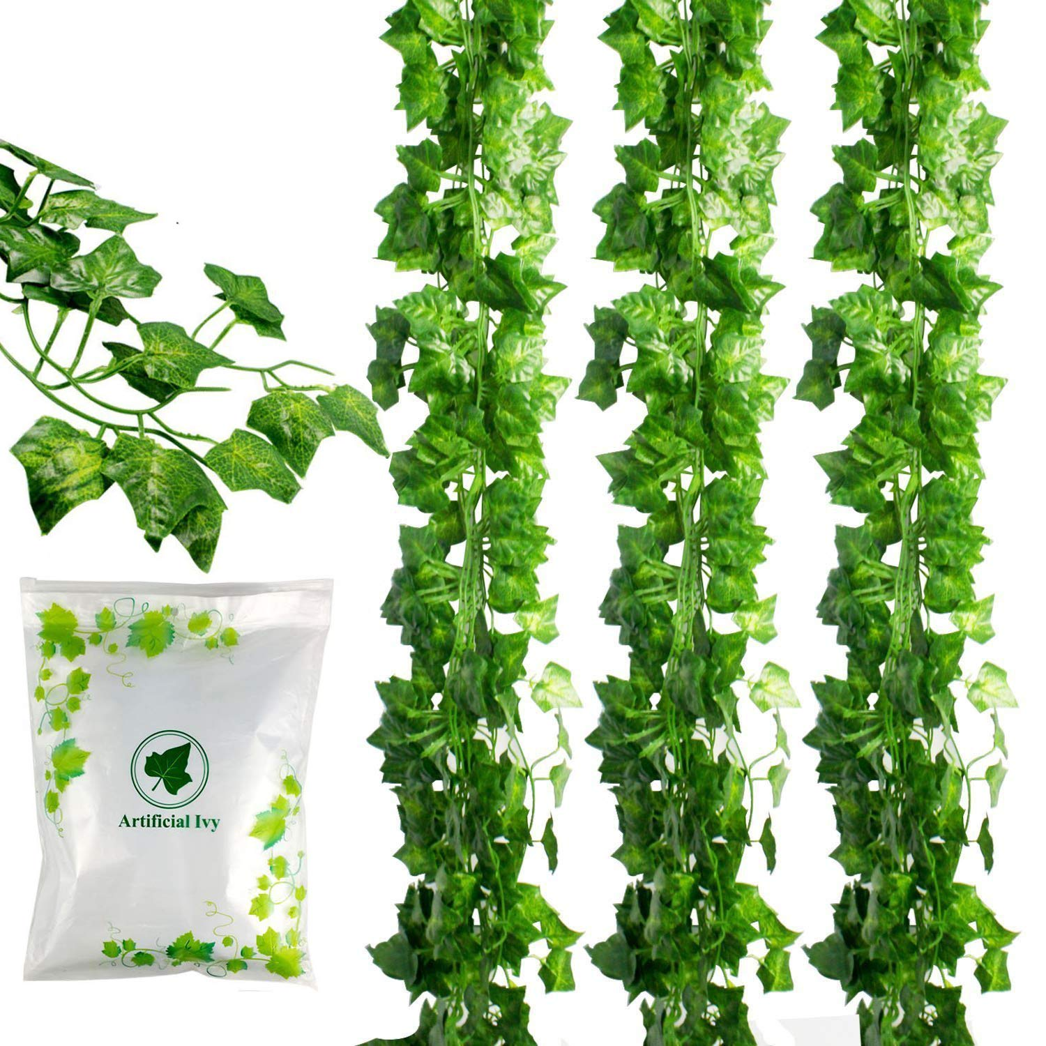 JPSOR 24 Pack (79 inch Each) Fake Ivy Artificial Ivy Leaves Greenery Garlands Hanging for Wedding Party Garden Wall Decoration by JPSOR