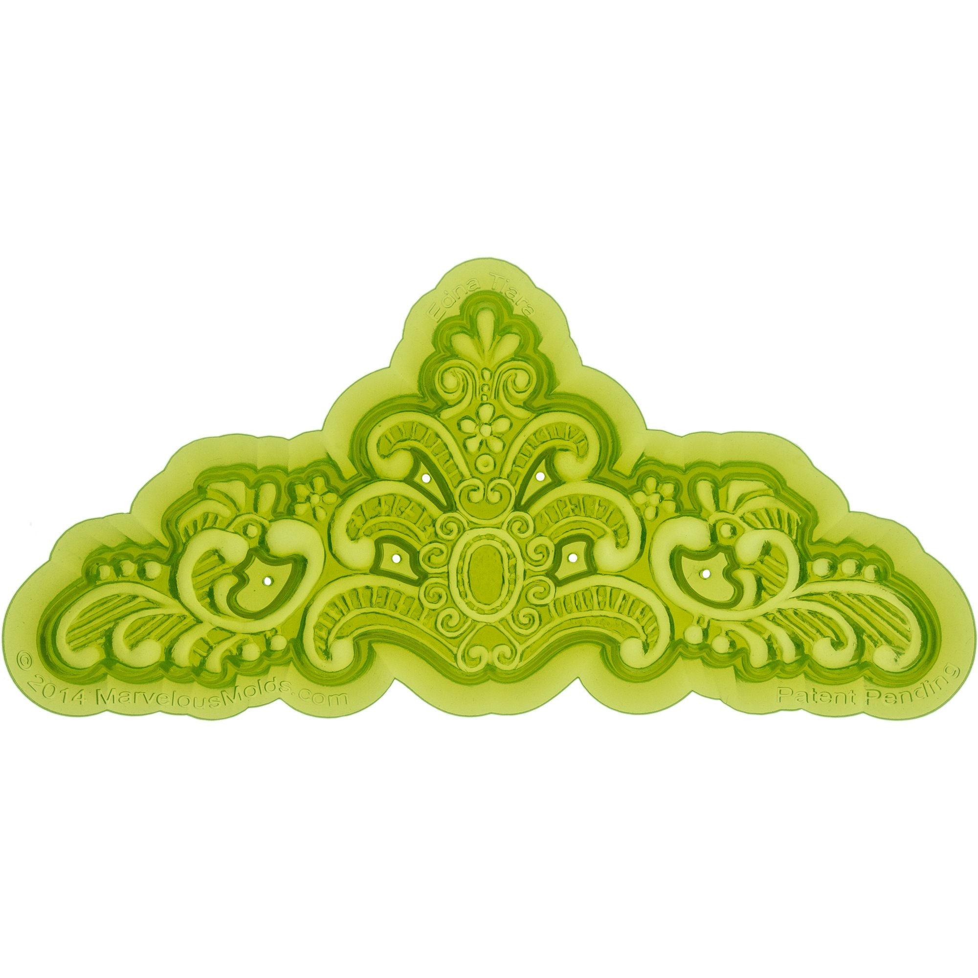 Marvelous Molds Silicone Tiara | Crown | Mold | ''Edna'' | Cake Decorating | Fondant | Gumpaste Icing