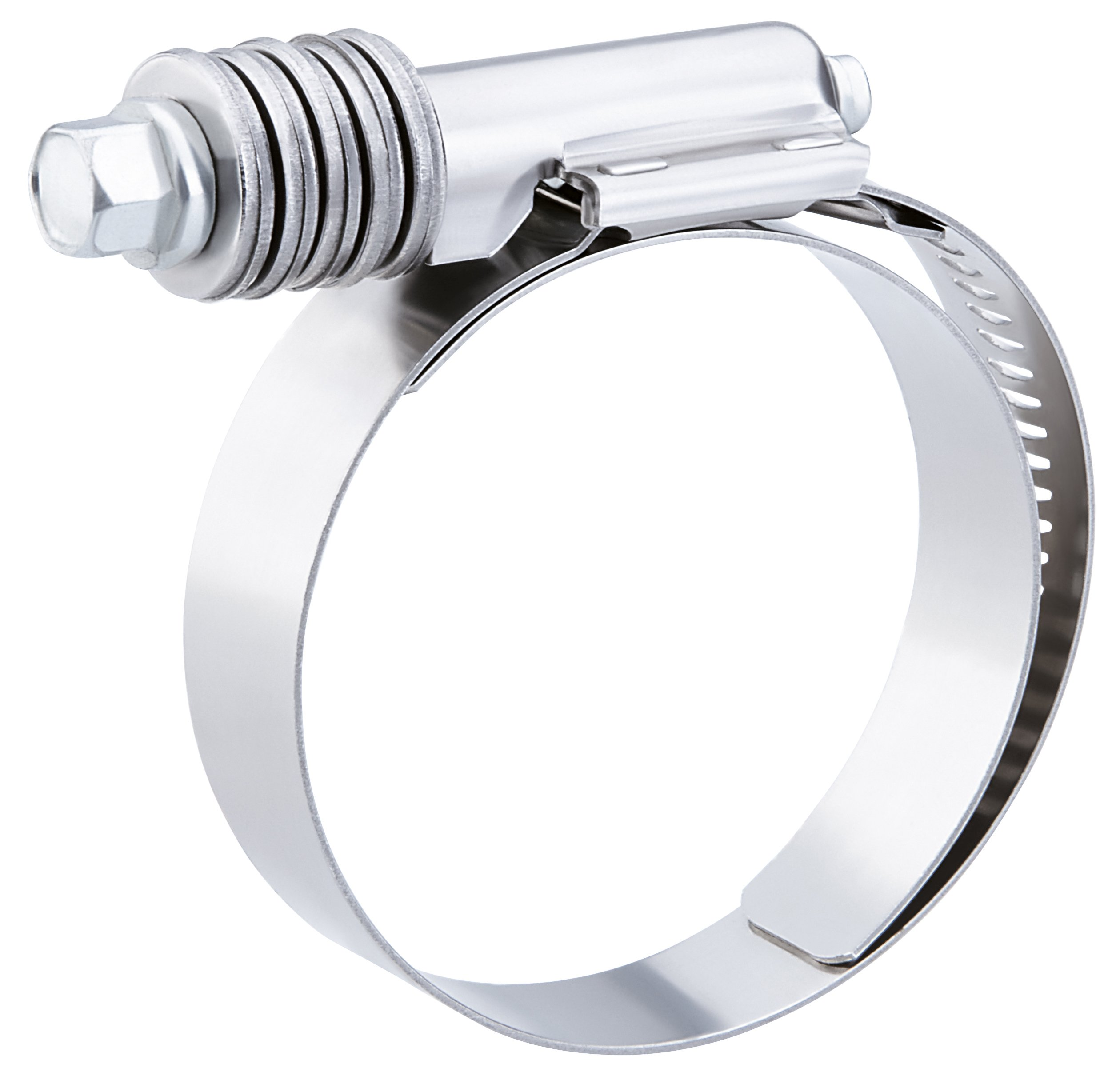 Breeze Constant-Torque Stainless Steel Hose Clamp, Worm-Drive, SAE Size 24, 1-1/16'' to 2'' Diameter Range, 9/16'' Band Width (Pack of 10)
