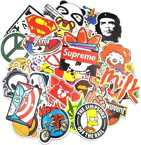 Sticker Pack (200-pcs), neuleben Graffiti adhesivo vinilos adhesivos para ordenador portátil, niños, adolescentes, coches, motocicleta, bicicleta, skateboard equipaje, Bumper Stickers Adhesivos de Hippie Bomba resistente al agua: Amazon.es: Juguetes y ...