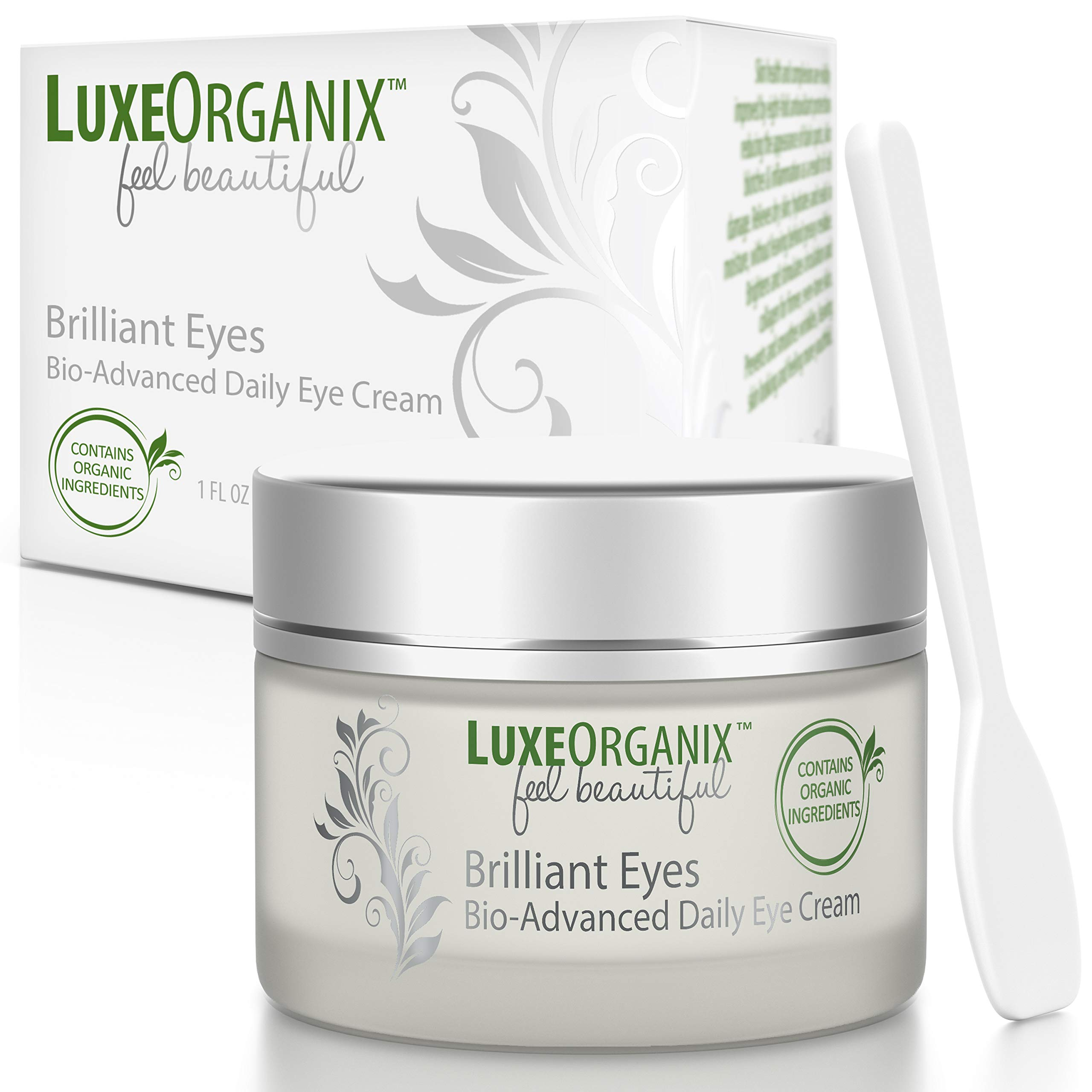 Organic Eye Cream Anti Aging; Soothes & Hydrates, Relieves Dark Circles & Puffiness, Under Eye Treatment. Wrinkle Repair Moisturizer With Natural Retinol Softens & Firms Skin, Minimizes Eye Bags (USA)