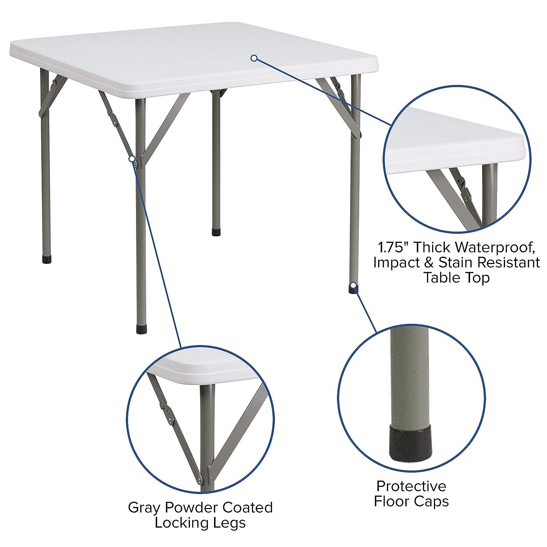 Amazon.com: Mesa plegable de plástico cuadrada de granito ...