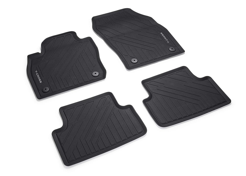 con Texto en T Volkswagen 2GM06150082V Alfombrillas de Goma para Todas Las Condiciones clim/áticas Color Negro