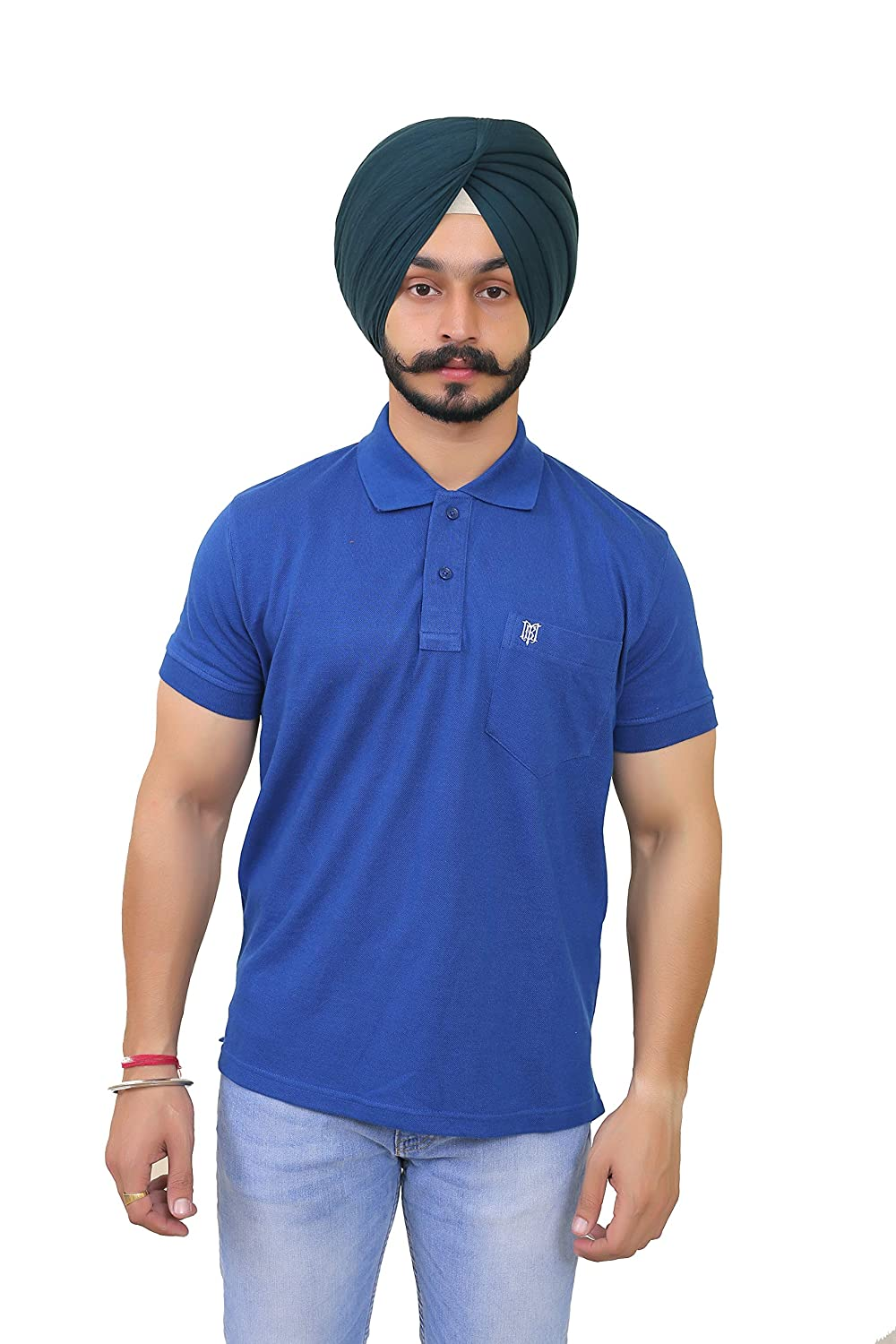 The Babbu Maan Store TBMS Blue Polo Pocket T-Shirts (XX