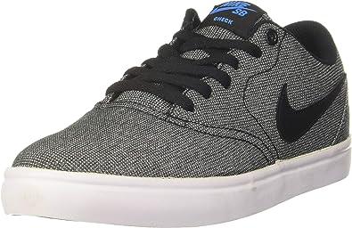 Nike Mens Sb Check Solar Cnvs Shoes Black Black White Photo Blue Size 7 Shoes
