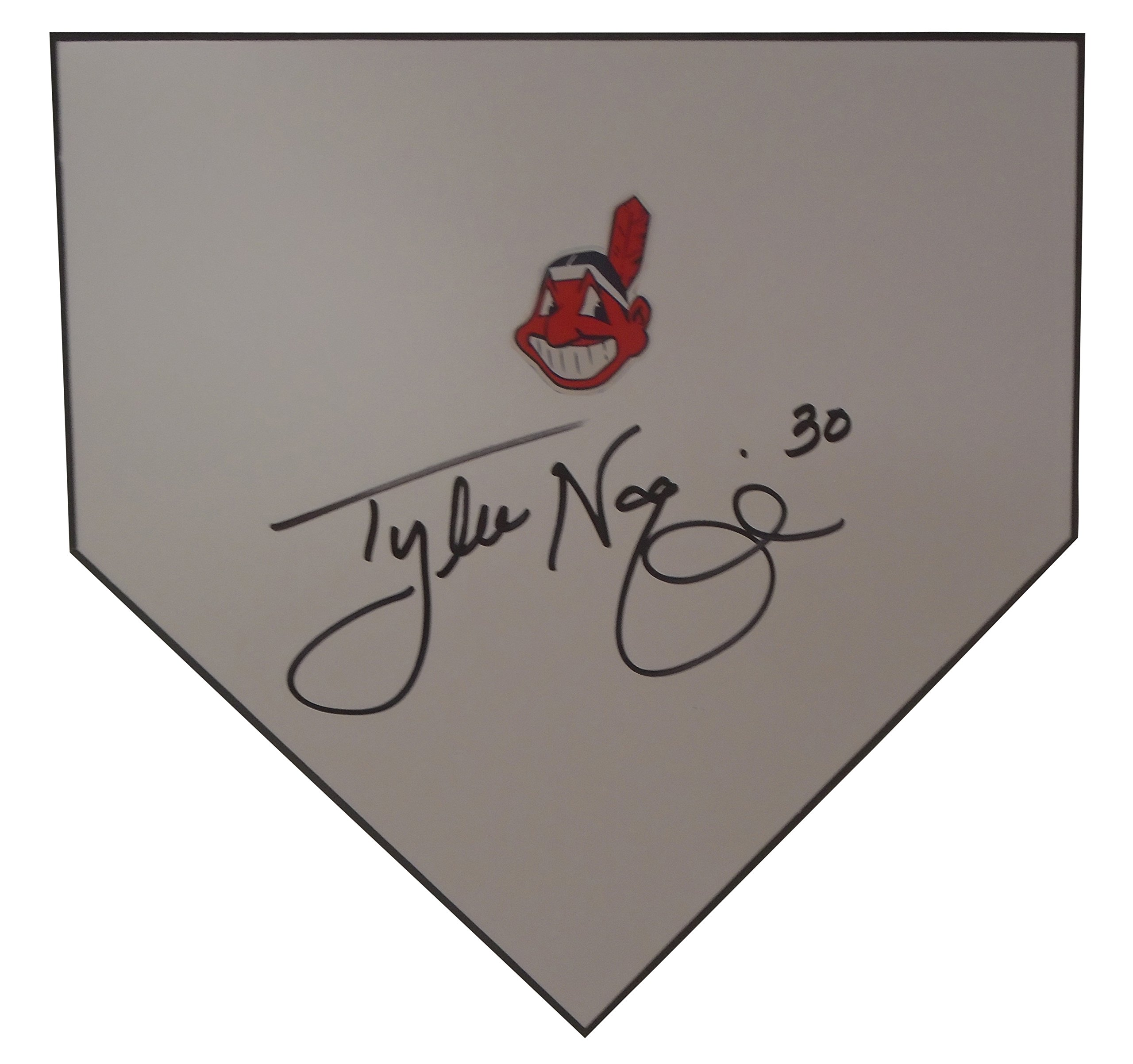 Cleveland Indians Tyler Naquin Autographed Hand Signed Baseball Home Plate Base with Proof Photo of Signing and COA
