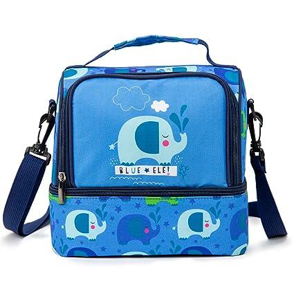 Amazon.com: Blue Ele BE05 Bolsas de almuerzo aisladas para ...