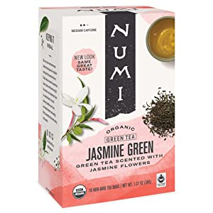 Numi Organic Tea Jasmine Green, 18 Count (Pack of 3) Box of Tea Bags (Packaging May Vary)