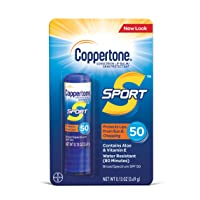 Coppertone Sport Sunscreen Lip Balm Broad Spectrum SPF 50 (0.13 Ounce) (Packaging...