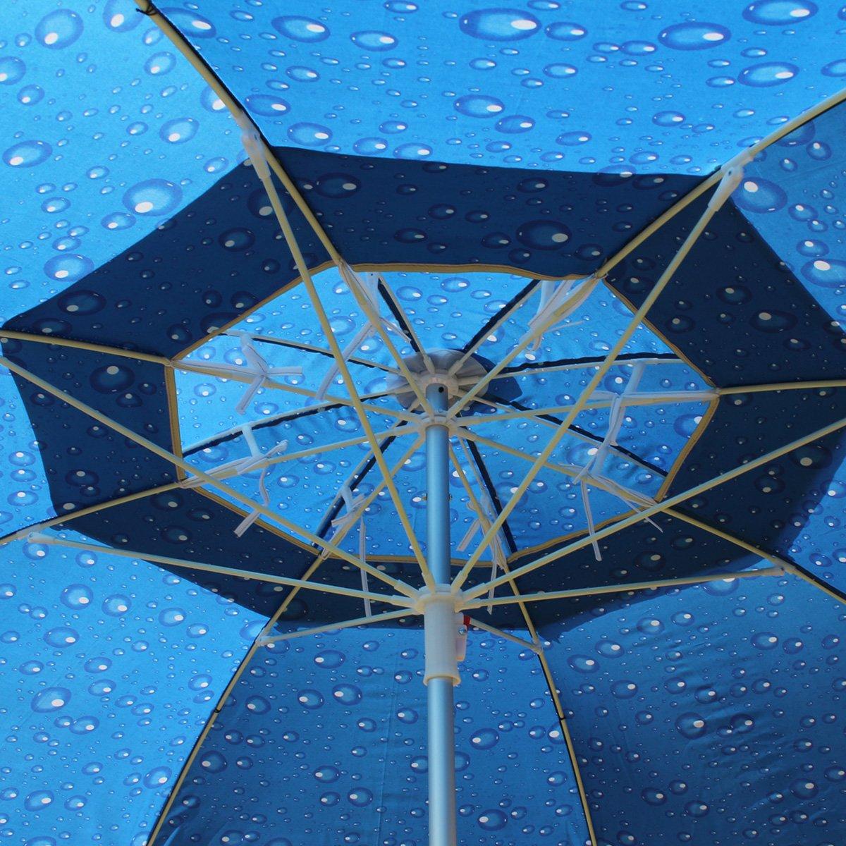 Amazon.de: XXL Sonnenschirm Strandschirm 190 cm Durchmesser ...