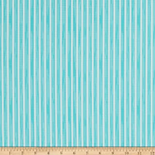 product image for Martha Stewart Lily Pond Ticking Stripe Eco Canvas Turquoise, Fabric by the Yard
