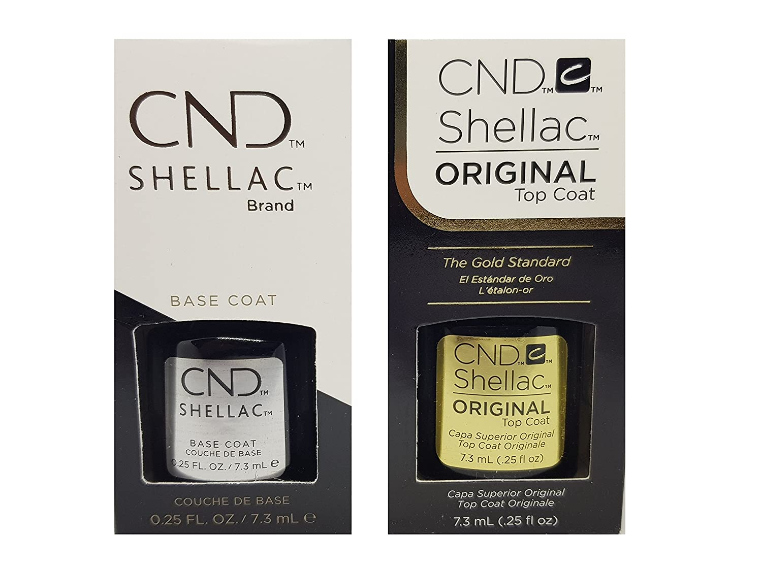 Cnd Shellac Top/Base Esmalte Gel - 1 Paquete de 2 x 7.3 ml - Total: 14.6 ml CNDNEWCAT78