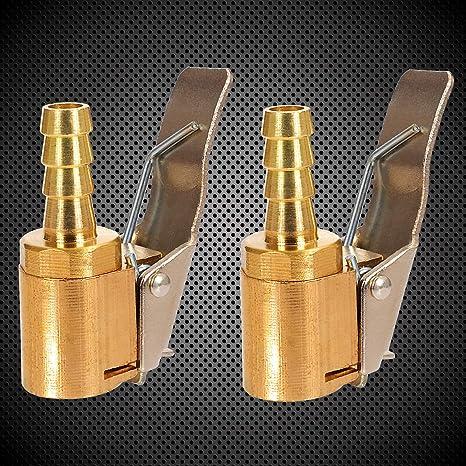 6mm Air Chuck Pneumatico per Auto Adattatore a sgancio rapido in Ottone Clip-on Toolwiz 2pz Connettore Valvola Pneumatica Universale per Gonfiatori Pompa dAria Compressore Macchina