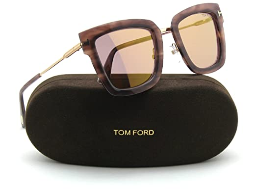 49be01ddb1 Tom Ford LARA 02 FT 0573 Women Sunglasses Havana 55X  Amazon.co.uk  Clothing