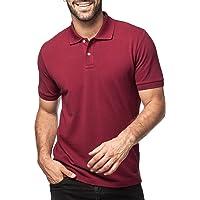 LAPASA Polo Homme à Manches Courtes Uni Respirant Fit Indémodable Tennis Golf Course M19&M49