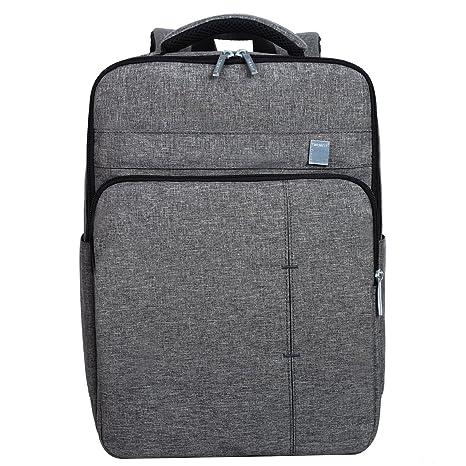 Eshow Mochila para Ordenador Portátil Hasta 15.6 Pulgadas Mochila Multifuncional de Poliester para Laptop de Negocio