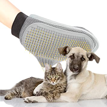 Poppypet Professional Pet Grooming Brushes Glove with Wire Pin ...