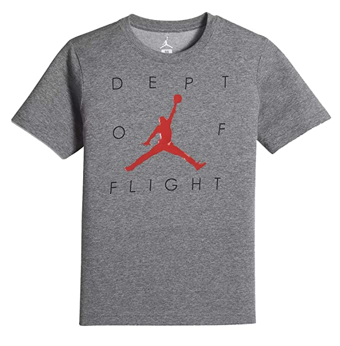 4dbb25011052 Amazon.com  Nike Air Jordan Dry 7 Big Kids  (Boys ) T-Shirt (Carbon ...