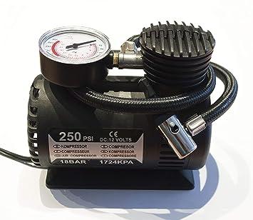 Mini Compresor Aire portátil 12V DC - 250 PSI -12V/80W Ref. AZ.5304.0088584: Amazon.es: Coche y moto