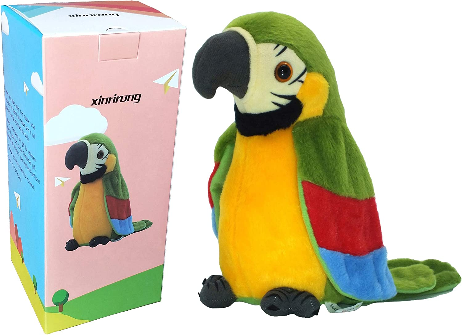 Talking Parrot Toy Repeats What You Say Kids Toys Education Funny Gift