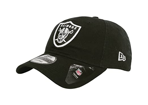 9f2821a1edca9 Amazon.com  New Era Men s Oakland Raiders 9Twenty Core Black Hat ...