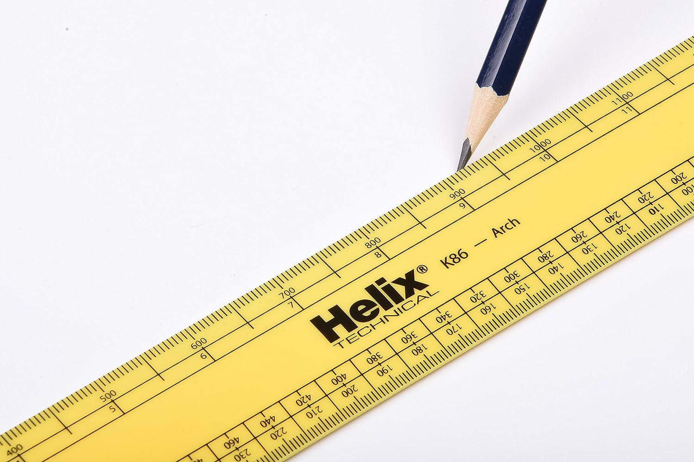 Helix R/ègle gradu/ée darchitecte Import Royaume Uni