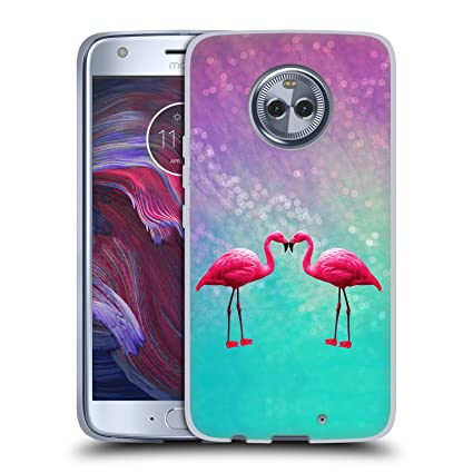 Delightful Etonnant Official Haroulita Flamingoes Fantasy 3 Soft Gel Case For Motorola  Moto X4