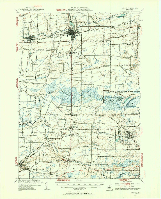 Medina Washington Map.Amazon Com Yellowmaps Medina Ny Topo Map 1 62500 Scale 15 X 15
