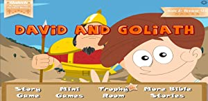 David & Goliath Bible Story with Built-in Games by Little Halo Games