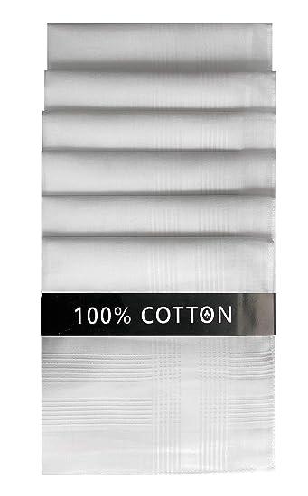 Pañuelos de algodón para hombre (45 x 45 cm, 6 unidades ...