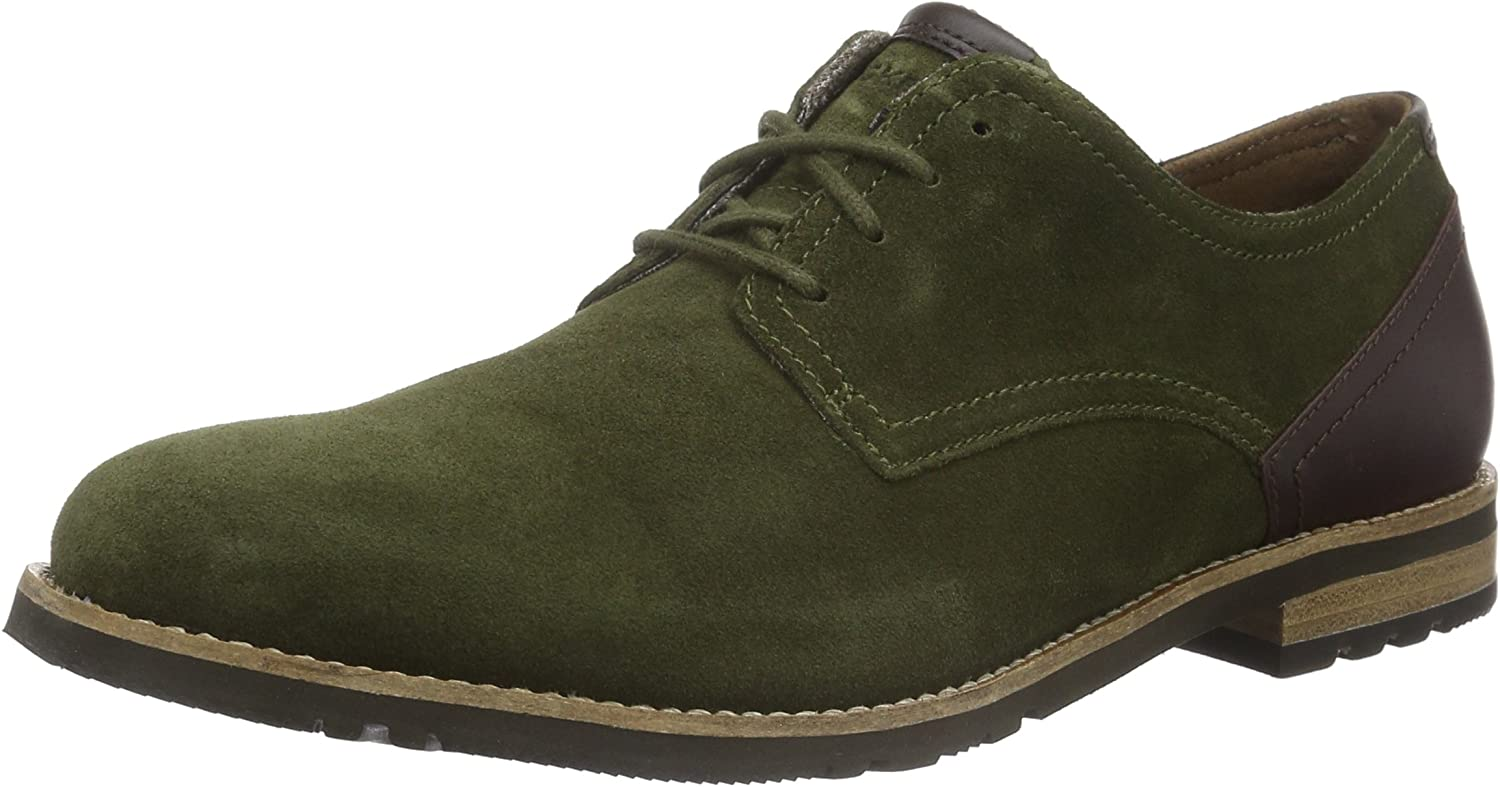 Rockport Ledge Hill Too Plain Toe Blucher, Zapatos de Cordones Derby para Hombre
