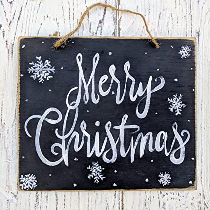 susie85electra merry christmas rustic christmas decor farmhouse holiday signs whole sale christmas wall decor snowflakes chalkboard - Christmas Decor Signs