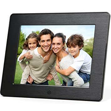 micca 8 inch digital photo frame with high resolution lcd and auto onoff - Electronic Picture Frames
