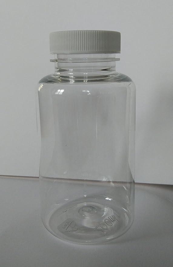 20 x 200 ml Botellas de PET Plástico Transparente platstik botellas, incluye 20 de Self Seal tapas: Amazon.es: Hogar