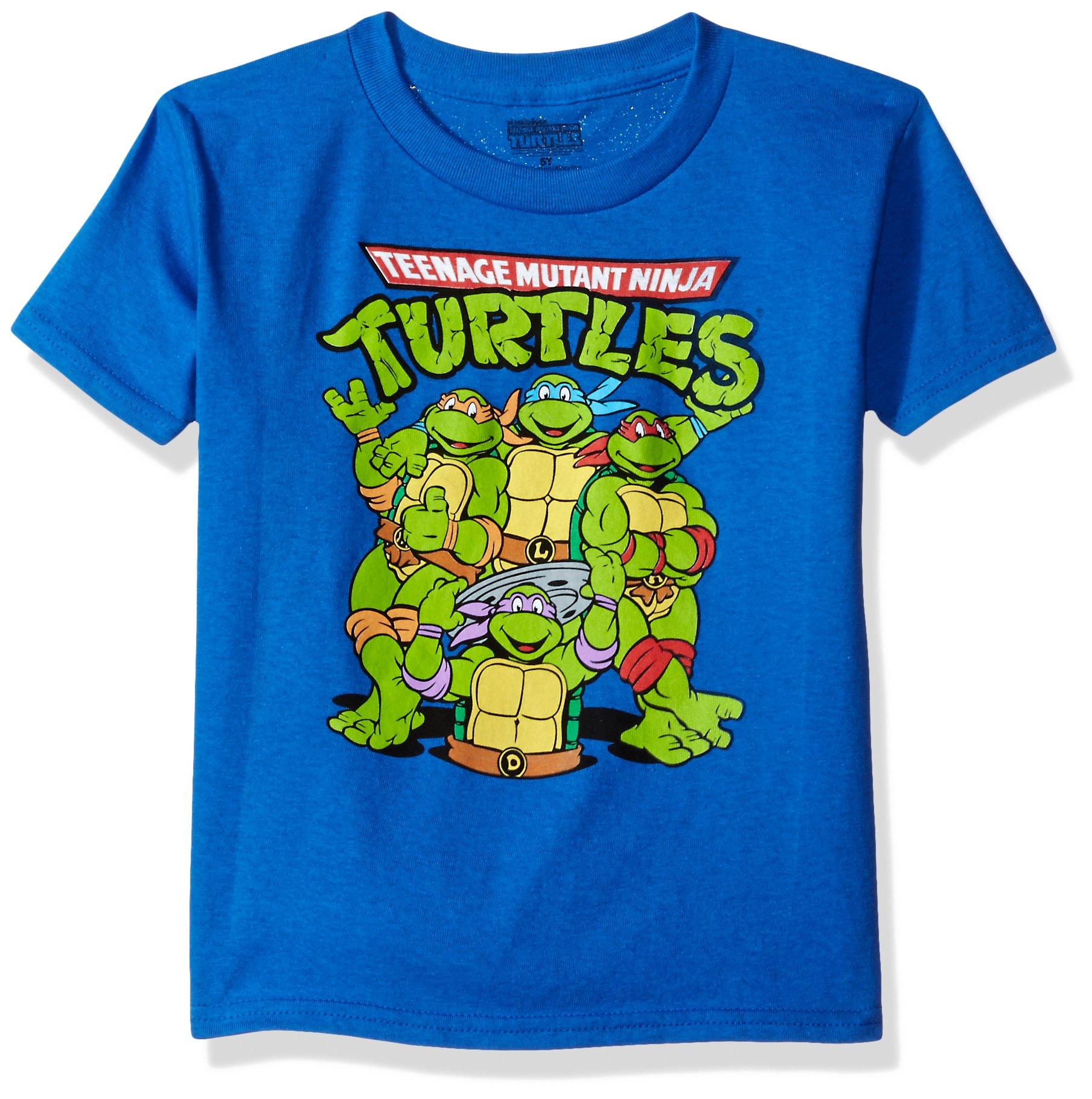Nickelodeon Toddler Boys Teenage Mutant Ninja Turtles Short Sleeve T-Shirt, Royal, 5T