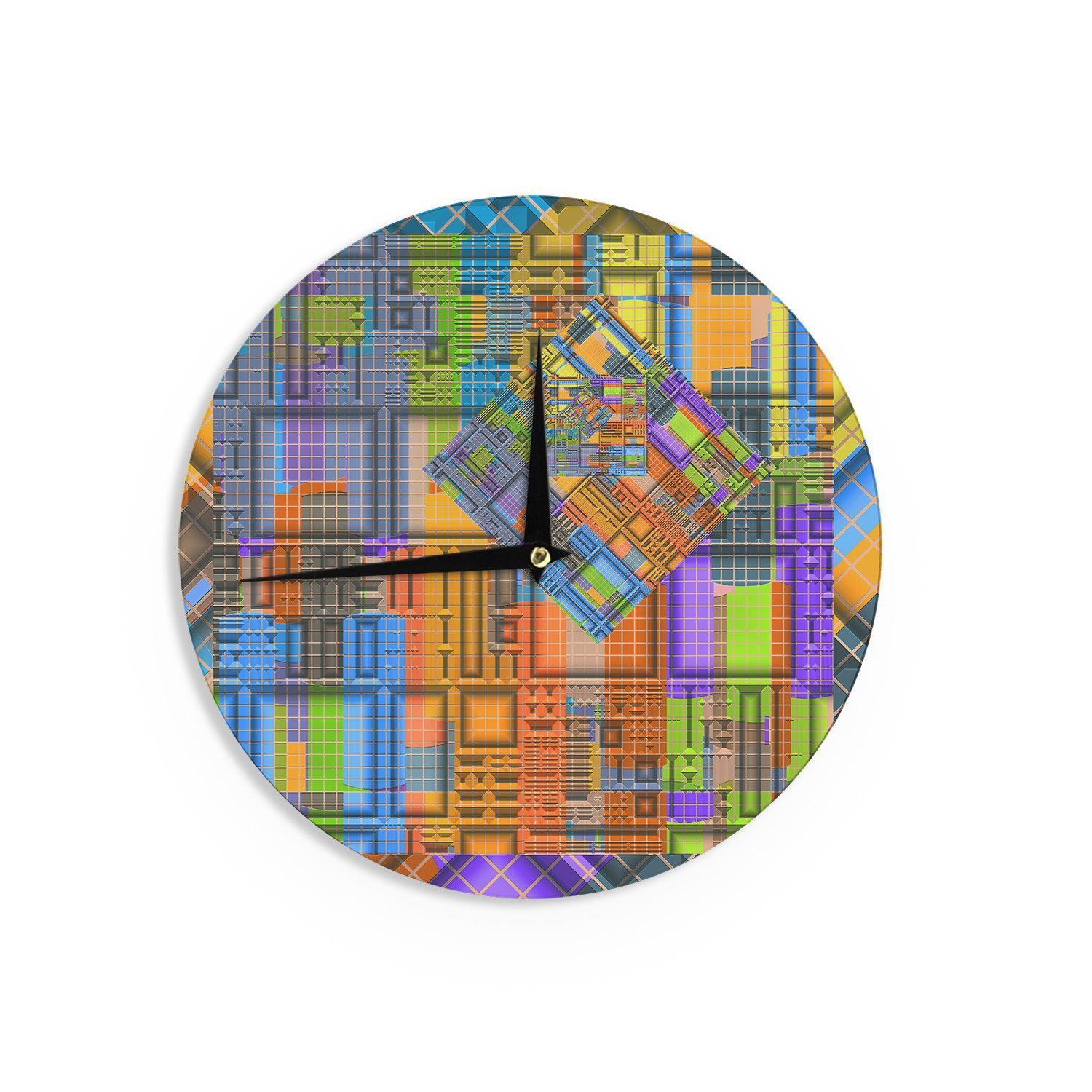 12-Inch Kess InHouse Michael Sussna Tile Rep Abstract Wall Clock