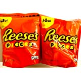 REESE'S PIECES Candy, 48 Ounce ((2) 48oz Bags)