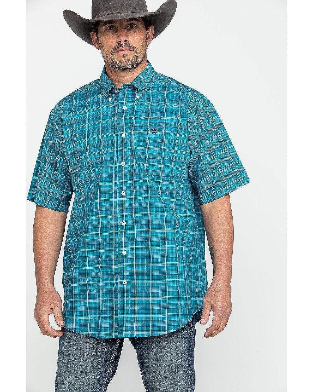 Cinch Mens Short Sleeve Plaid MTW1111301