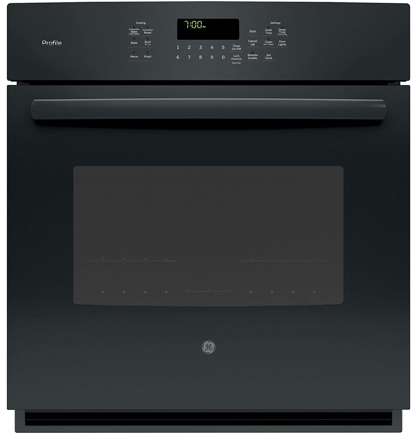 "GE PK7000DFBB Profile 27"" Black Electric Single Wall Oven - Convection"