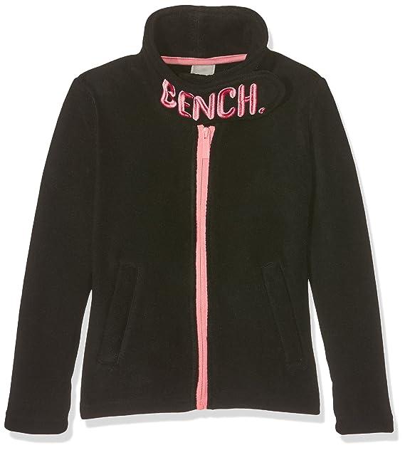 Cool Bench Girls Funnel Fleece Jacket Black Beauty Bk11179 Ibusinesslaw Wood Chair Design Ideas Ibusinesslaworg