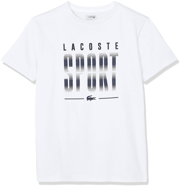 Lacoste Sport Tj5374 Camiseta, Blanc/Marine 522, 6 años (Talla del ...