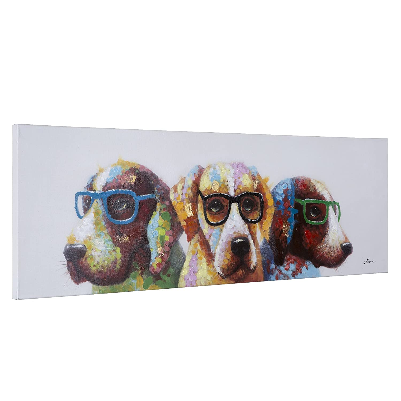 Yosemite Home Decor Cool Dogs Multicolor