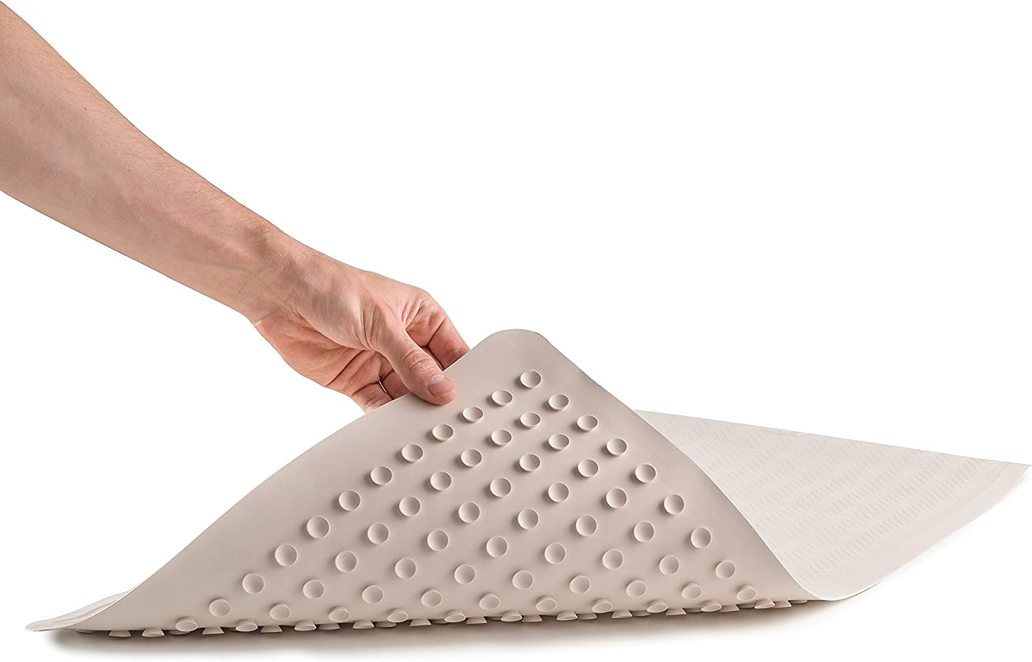 "Epica Anti-Slip Machine Washable Anti-Bacterial Bath Mat 16"" x 28"" Natural Rubber: Home & Kitchen"