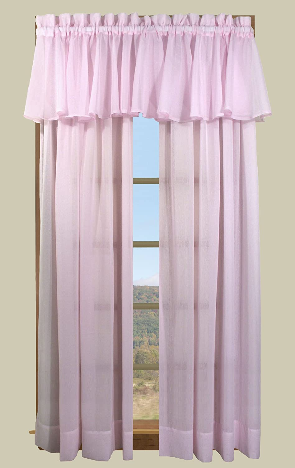 55 by 54-Inch White Ricardo Trading Sea Glass Tailored Curtain Panel
