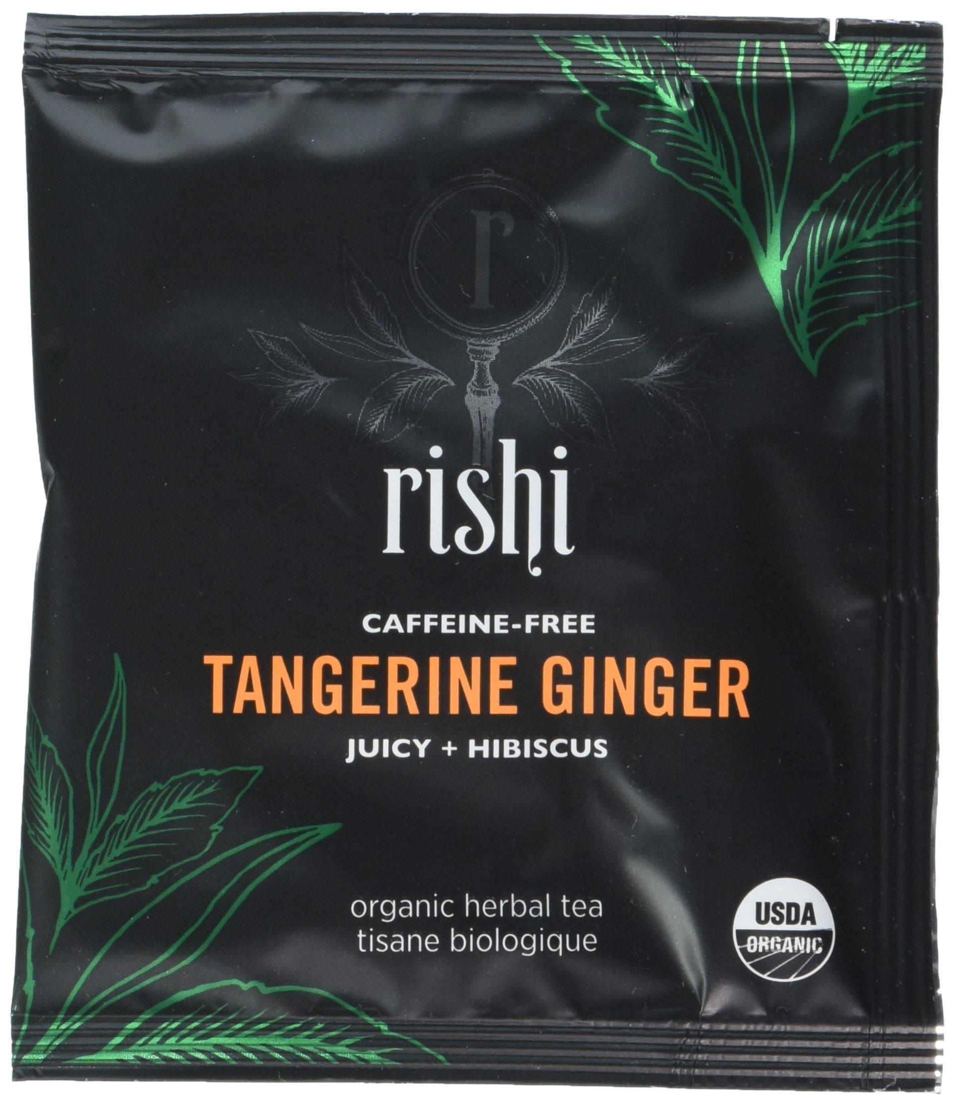 Rishi Tea Ginger Tea Bags, Organic Tangerine, 50 Count