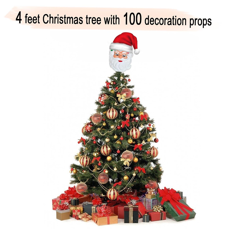 Buy Tiedribbons Christmasxmas Tree 4 Feet With 100 Tree Hanging