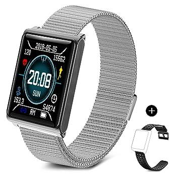 TECKEPIC N98 Montre Connectée Smartwatch Bracelet Connecté Trackers dactivité Podomètre Distance Calories Cardiofréquencemètre pour