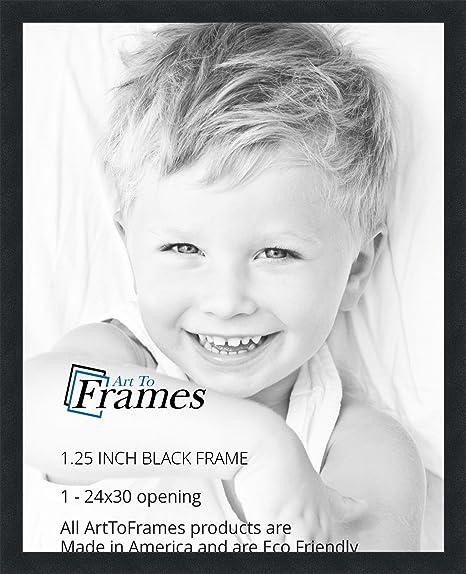 amazoncom arttoframes 24x30 inch black picture frame womfrbw72079 24x30 single frames